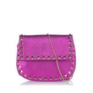 Pink Valentino Mettalic Rockstud Crossbody Bag